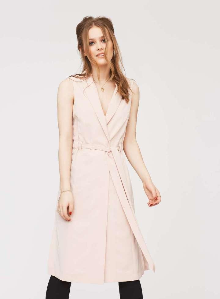 blush duster coat